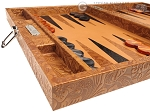 picture of Hector Saxe Arizona Leather Travel Backgammon Set - Cognac (5 of 12)