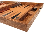 picture of Hector Saxe Arizona Leather Travel Backgammon Set - Cognac (6 of 12)