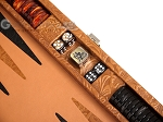picture of Hector Saxe Arizona Leather Travel Backgammon Set - Cognac (7 of 12)