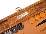 picture of Hector Saxe Arizona Leather Travel Backgammon Set - Cognac (9 of 12)