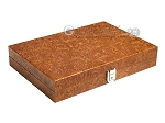 picture of Hector Saxe Arizona Leather Travel Backgammon Set - Cognac (12 of 12)