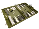 picture of Hector Saxe Epi Leatherette Backgammon Set - Green (2 of 12)