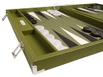 picture of Hector Saxe Epi Leatherette Backgammon Set - Green (5 of 12)