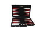 Hector Saxe Epi Leatherette Backgammon Set - Black - Item: 3886