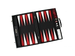 picture of Hector Saxe Epi Leatherette Backgammon Set - Black (2 of 6)