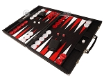 picture of Hector Saxe Epi Leatherette Backgammon Set - Black (3 of 12)