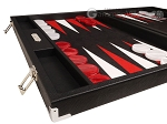 picture of Hector Saxe Epi Leatherette Backgammon Set - Black (5 of 12)