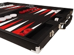 picture of Hector Saxe Epi Leatherette Backgammon Set - Black (6 of 12)