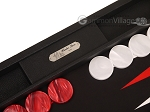 picture of Hector Saxe Epi Leatherette Backgammon Set - Black (9 of 12)