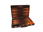 picture of Hector Saxe Epi Leatherette Backgammon Set - Brown (1 of 6)