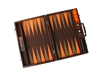 picture of Hector Saxe Epi Leatherette Backgammon Set - Brown (2 of 6)