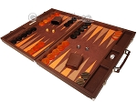 picture of Hector Saxe Epi Leatherette Backgammon Set - Brown (3 of 12)