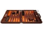picture of Hector Saxe Epi Leatherette Backgammon Set - Brown (4 of 12)