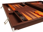picture of Hector Saxe Epi Leatherette Backgammon Set - Brown (5 of 12)