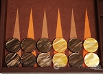 picture of Hector Saxe Epi Leatherette Backgammon Set - Brown (8 of 12)
