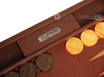 picture of Hector Saxe Epi Leatherette Backgammon Set - Brown (9 of 12)