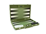 Hector Saxe Epi Leatherette Backgammon Set - Green - Item: 3889