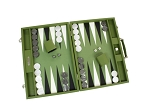 picture of Hector Saxe Epi Leatherette Backgammon Set - Green (2 of 6)