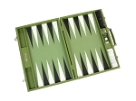 picture of Hector Saxe Epi Leatherette Backgammon Set - Green (3 of 6)