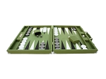 picture of Hector Saxe Epi Leatherette Backgammon Set - Green (4 of 6)