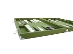 picture of Hector Saxe Epi Leatherette Backgammon Set - Green (5 of 6)