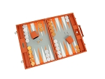 picture of Hector Saxe Epi Leatherette Backgammon Set - Orange (2 of 6)
