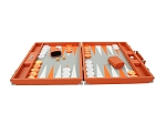 picture of Hector Saxe Epi Leatherette Backgammon Set - Orange (4 of 6)