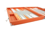 picture of Hector Saxe Epi Leatherette Backgammon Set - Orange (5 of 6)