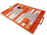picture of Hector Saxe Epi Leatherette Backgammon Set - Orange (3 of 12)