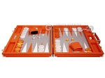 picture of Hector Saxe Epi Leatherette Backgammon Set - Orange (4 of 12)