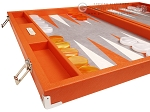 picture of Hector Saxe Epi Leatherette Backgammon Set - Orange (5 of 12)