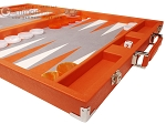 picture of Hector Saxe Epi Leatherette Backgammon Set - Orange (6 of 12)