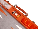 picture of Hector Saxe Epi Leatherette Backgammon Set - Orange (7 of 12)