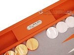 picture of Hector Saxe Epi Leatherette Backgammon Set - Orange (9 of 12)