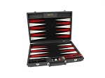 Hector Saxe Cosmos Linen Backgammon Set - Black - Item: 3880
