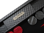 picture of Hector Saxe Cosmos Linen Backgammon Set - Black (3 of 6)