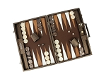 picture of Hector Saxe Cosmos Linen Backgammon Set - Brown (2 of 6)