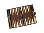 picture of Hector Saxe Cosmos Linen Backgammon Set - Brown (3 of 6)