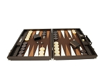 picture of Hector Saxe Cosmos Linen Backgammon Set - Brown (4 of 6)