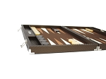picture of Hector Saxe Cosmos Linen Backgammon Set - Brown (5 of 6)