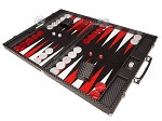 picture of Hector Saxe Cosmos Linen Backgammon Set - Black (3 of 12)