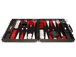 picture of Hector Saxe Cosmos Linen Backgammon Set - Black (4 of 12)