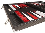 picture of Hector Saxe Cosmos Linen Backgammon Set - Black (5 of 12)