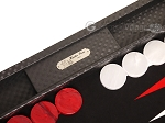 Hector Saxe Cosmos Linen Backgammon Set - Black