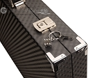 picture of Hector Saxe Cosmos Linen Backgammon Set - Black (12 of 12)