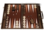 picture of Hector Saxe Cosmos Linen Backgammon Set - Brown (1 of 12)