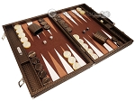 picture of Hector Saxe Cosmos Linen Backgammon Set - Brown (2 of 12)