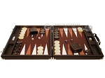 picture of Hector Saxe Cosmos Linen Backgammon Set - Brown (4 of 12)