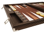 picture of Hector Saxe Cosmos Linen Backgammon Set - Brown (5 of 12)