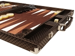 picture of Hector Saxe Cosmos Linen Backgammon Set - Brown (6 of 12)